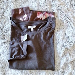 NWT Maurices Floral Insert Blouse